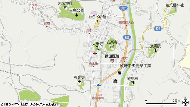 大分県玖珠郡玖珠町森927周辺の地図