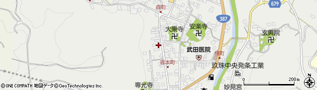 大分県玖珠郡玖珠町森1069周辺の地図