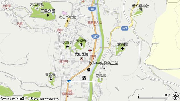 大分県玖珠郡玖珠町森705周辺の地図