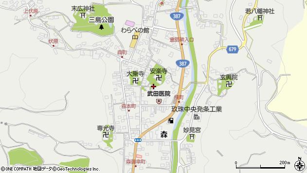 大分県玖珠郡玖珠町森702周辺の地図