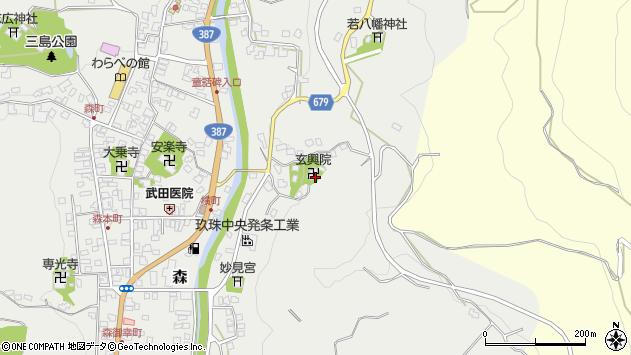 大分県玖珠郡玖珠町森580周辺の地図