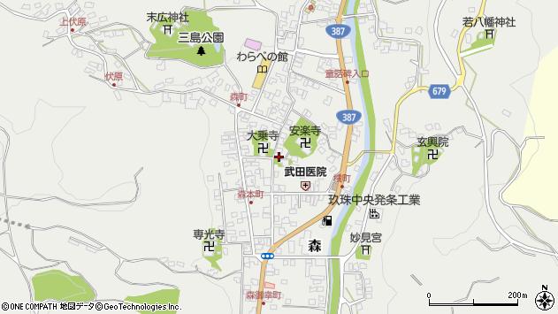 大分県玖珠郡玖珠町森755周辺の地図