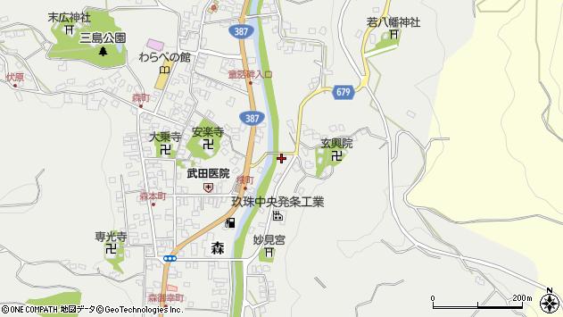 大分県玖珠郡玖珠町森680周辺の地図