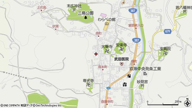 大分県玖珠郡玖珠町森1071周辺の地図
