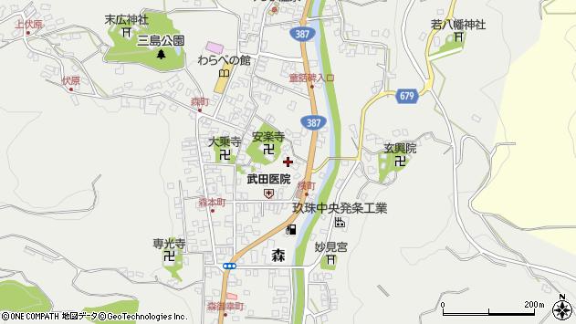 大分県玖珠郡玖珠町森704周辺の地図