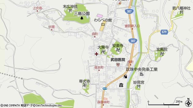 大分県玖珠郡玖珠町森925周辺の地図