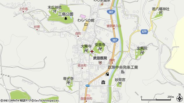 大分県玖珠郡玖珠町森754周辺の地図