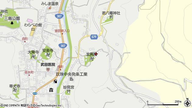 大分県玖珠郡玖珠町森532周辺の地図