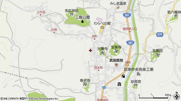 大分県玖珠郡玖珠町森1075周辺の地図