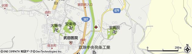 大分県玖珠郡玖珠町森広瀬周辺の地図