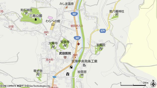 大分県玖珠郡玖珠町森709周辺の地図