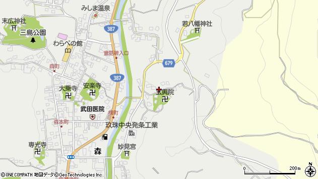 大分県玖珠郡玖珠町森568周辺の地図