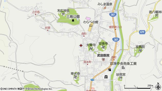 大分県玖珠郡玖珠町森1076周辺の地図