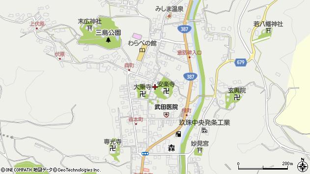 大分県玖珠郡玖珠町森752周辺の地図