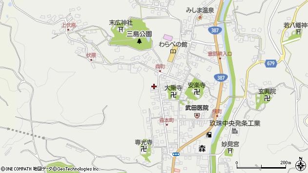 大分県玖珠郡玖珠町森1077周辺の地図