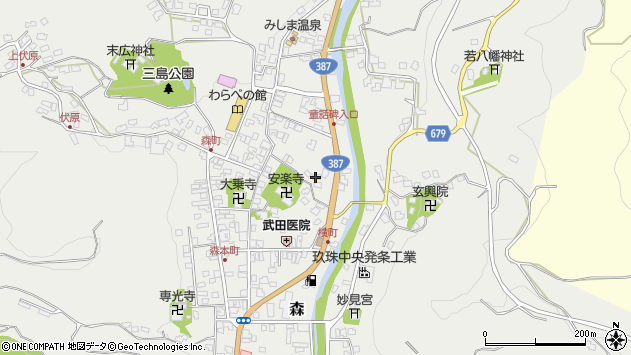 大分県玖珠郡玖珠町森718周辺の地図