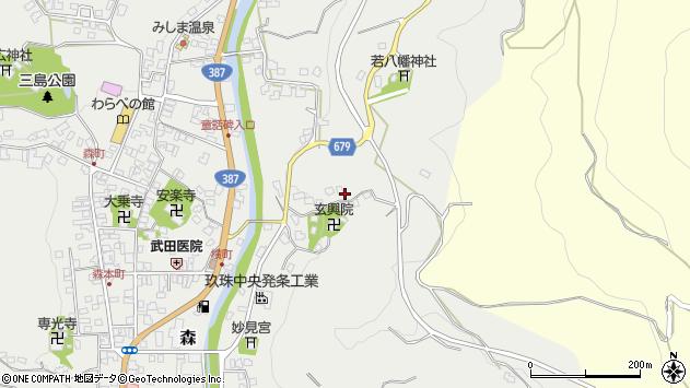 大分県玖珠郡玖珠町森535周辺の地図