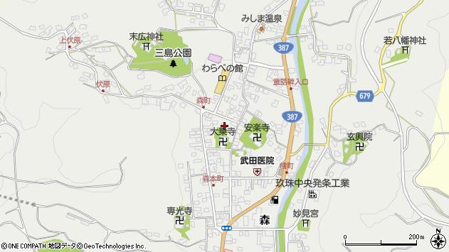 大分県玖珠郡玖珠町森761周辺の地図