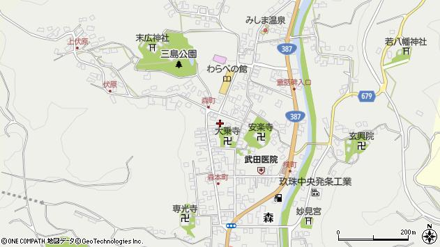 大分県玖珠郡玖珠町森918周辺の地図