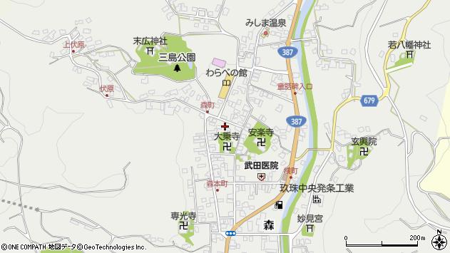 大分県玖珠郡玖珠町森762周辺の地図