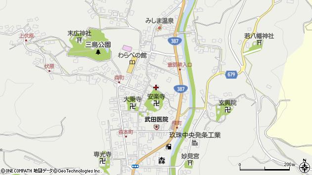 大分県玖珠郡玖珠町森741周辺の地図