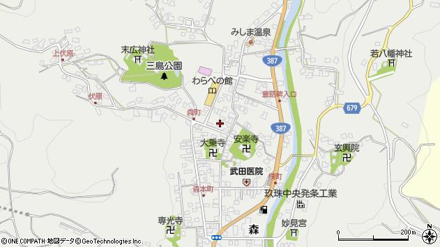 大分県玖珠郡玖珠町森768周辺の地図