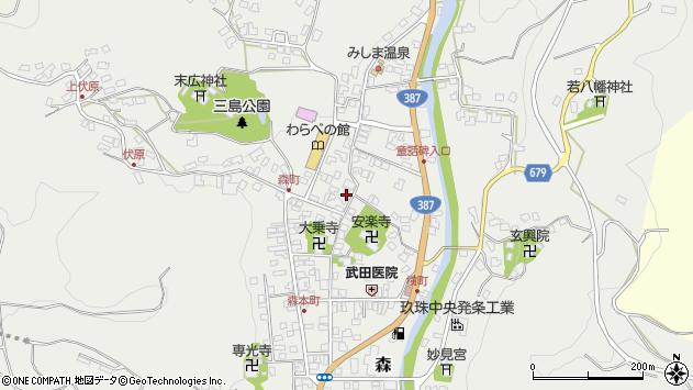 大分県玖珠郡玖珠町森771周辺の地図
