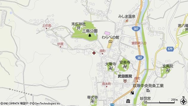 大分県玖珠郡玖珠町森909周辺の地図