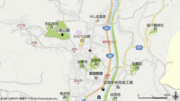 大分県玖珠郡玖珠町森773周辺の地図