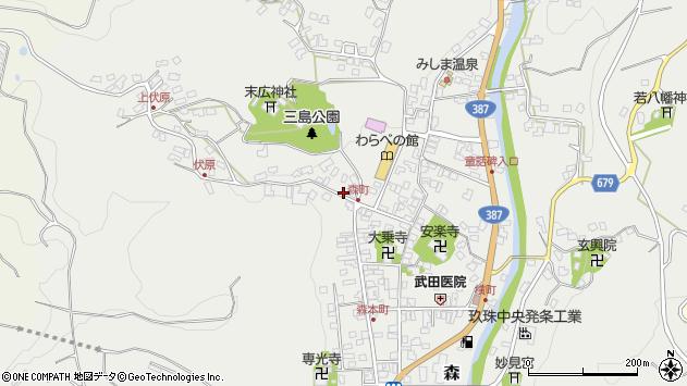 大分県玖珠郡玖珠町森883周辺の地図