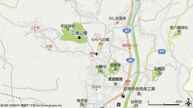 大分県玖珠郡玖珠町森875周辺の地図