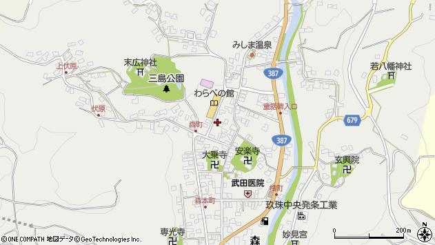 大分県玖珠郡玖珠町森777周辺の地図