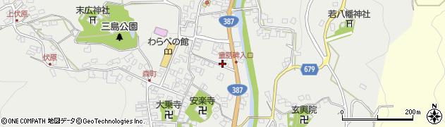 大分県玖珠郡玖珠町森788周辺の地図