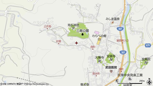 大分県玖珠郡玖珠町森888周辺の地図
