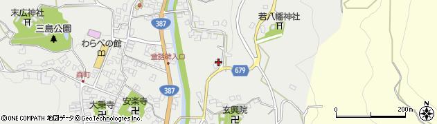 大分県玖珠郡玖珠町森1713周辺の地図
