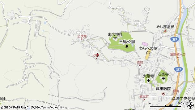 大分県玖珠郡玖珠町森1541周辺の地図