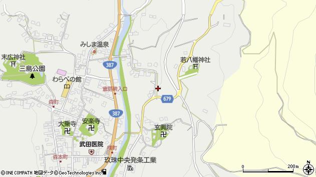 大分県玖珠郡玖珠町森1711周辺の地図