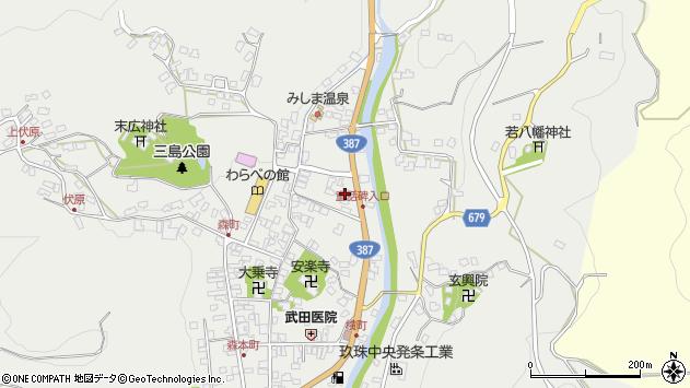 大分県玖珠郡玖珠町森786周辺の地図