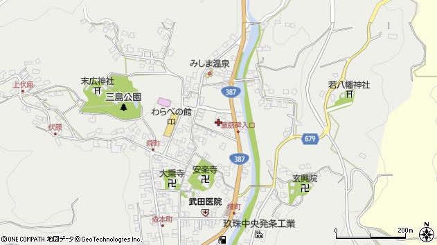大分県玖珠郡玖珠町森785周辺の地図