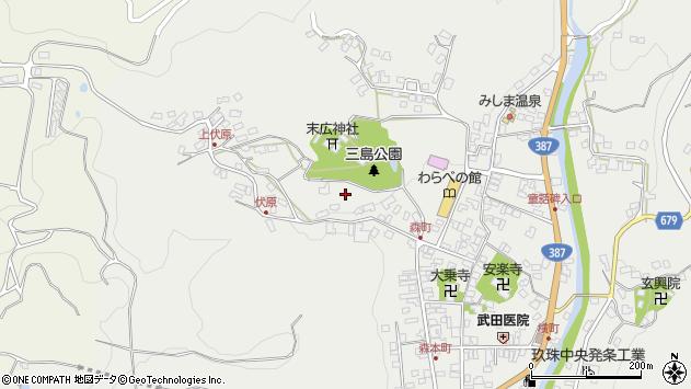 大分県玖珠郡玖珠町森田町周辺の地図