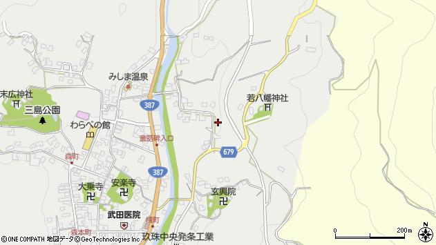 大分県玖珠郡玖珠町森2299周辺の地図