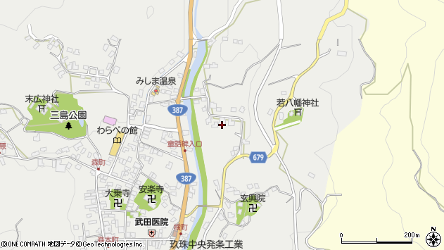 大分県玖珠郡玖珠町森2296周辺の地図