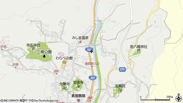 大分県玖珠郡玖珠町森796周辺の地図