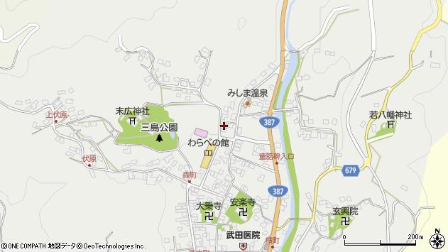 大分県玖珠郡玖珠町森848周辺の地図
