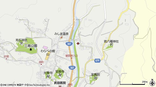 大分県玖珠郡玖珠町森2293周辺の地図