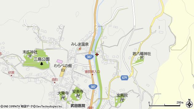 大分県玖珠郡玖珠町森1721周辺の地図