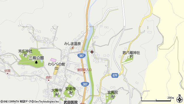大分県玖珠郡玖珠町森2292周辺の地図