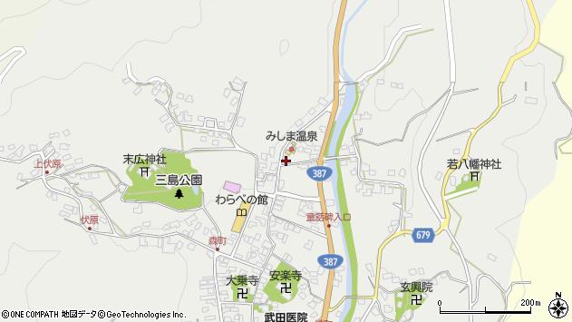 大分県玖珠郡玖珠町森805周辺の地図