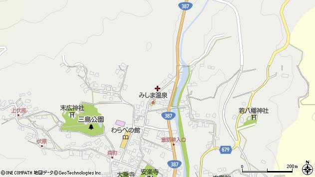 大分県玖珠郡玖珠町森836周辺の地図