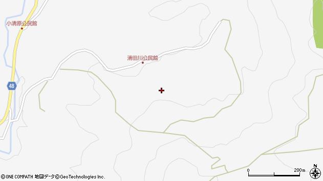 大分県玖珠郡玖珠町四日市清田川周辺の地図